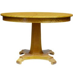 Art Deco Birch Oval Center Occasional Table