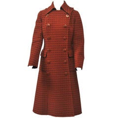 Baccarat Orange/Brown Coat, c.1970