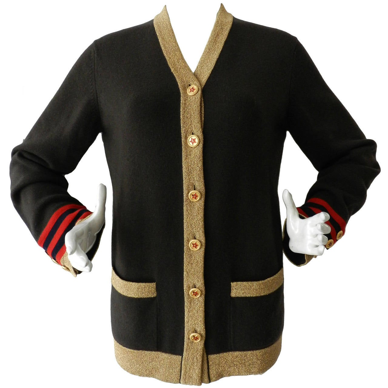 Chanel 09A Russian Collection Cashmere Cardigan Sweater at 1stdibs