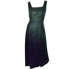 Giorgio Armani Black Velvet Sleevless Evening Gown