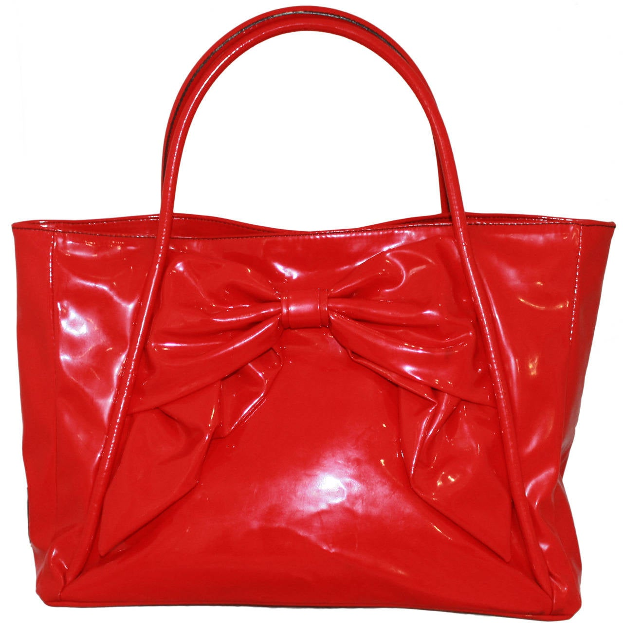 Valentino Red Plastic Bow Bag For Sale