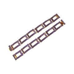 William De Lillo Blue Glass Bracelets