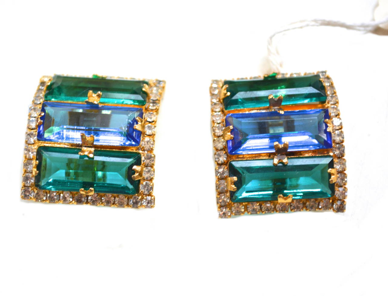 William De Lillo Glam Earrings In Excellent Condition For Sale In Litchfield County, CT
