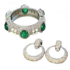 Ciner Earrings and Cuff