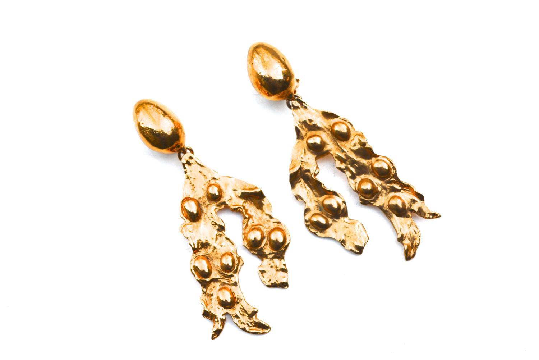 Oversized Yves Saint Laurent Abstract Earrings 5