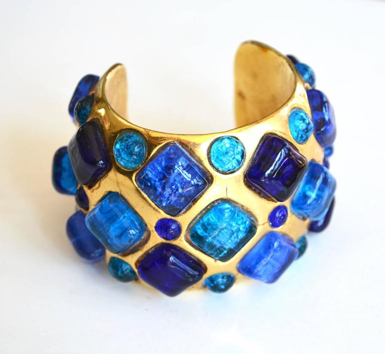 Dominique Aurientis Gilt Gripoix Cuff In Excellent Condition For Sale In Litchfield County, CT