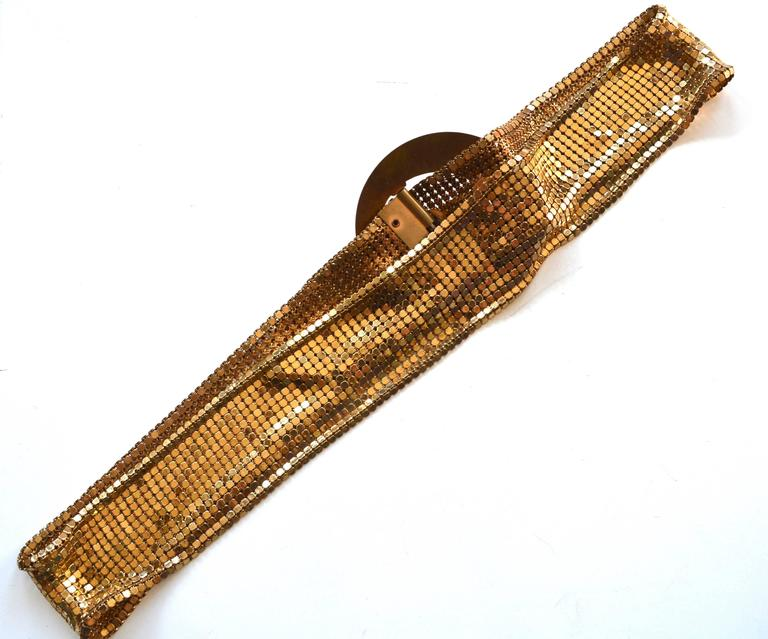 Brown 1930s Golden Mesh Belt  For Sale