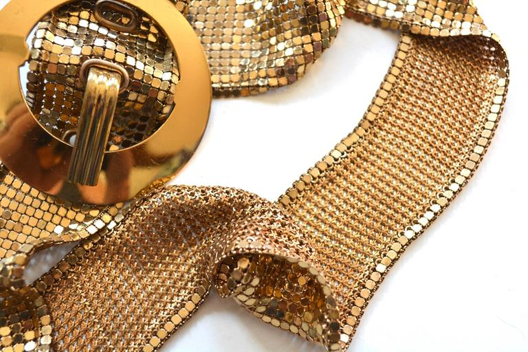 1930s Golden Mesh Belt  In Excellent Condition For Sale In Litchfield County, CT