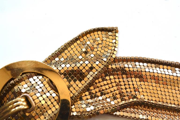 Women's or Men's 1930s Golden Mesh Belt  For Sale