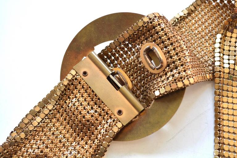 1930s Golden Mesh Belt  For Sale 1
