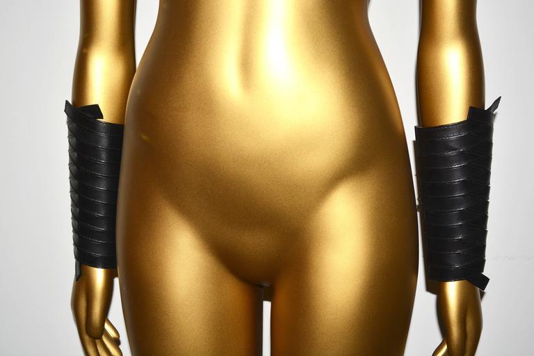 Dior Leather Armor Cuffs 3