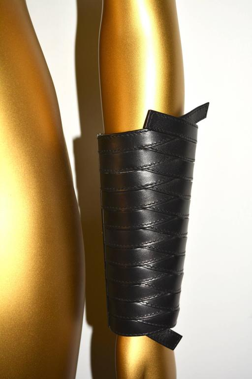 Women's or Men's Dior Leather Armor Cuffs For Sale