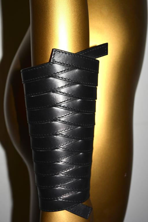 Dior Leather Armor Cuffs For Sale 2