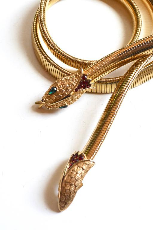 Trifari Snake Belt 2
