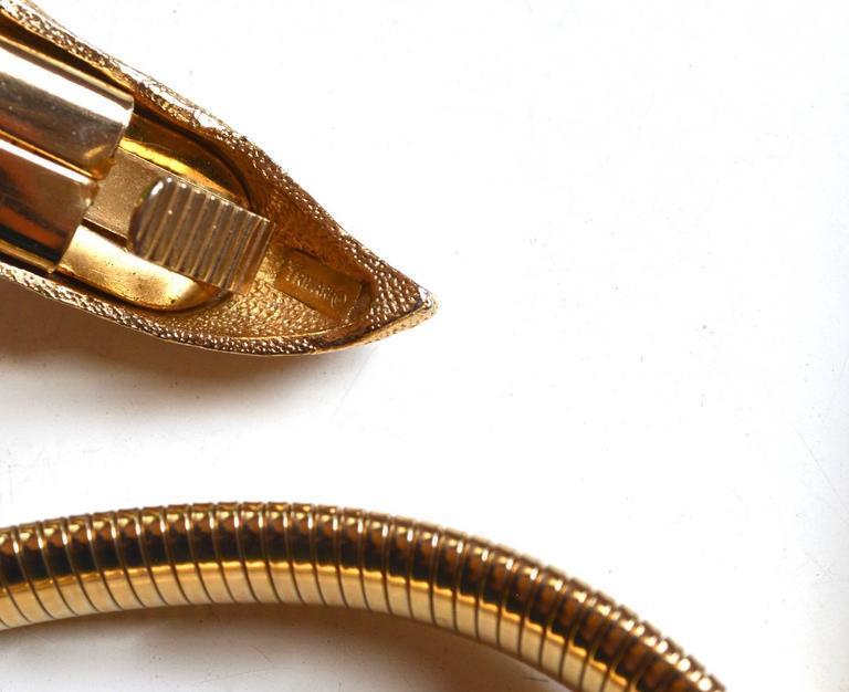 Women's or Men's Trifari Snake Belt For Sale