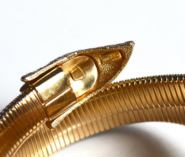 Women's or Men's 60s Trifari Snake Bracelets For Sale