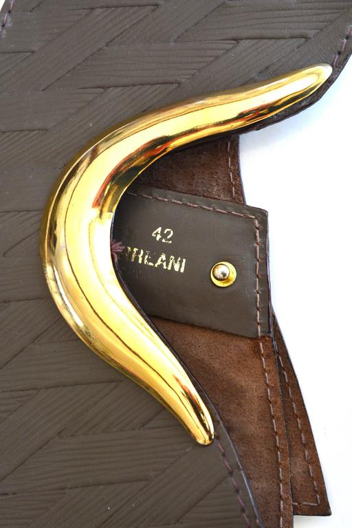 Ugo Correani Leather Belt In Good Condition For Sale In Litchfield County, CT