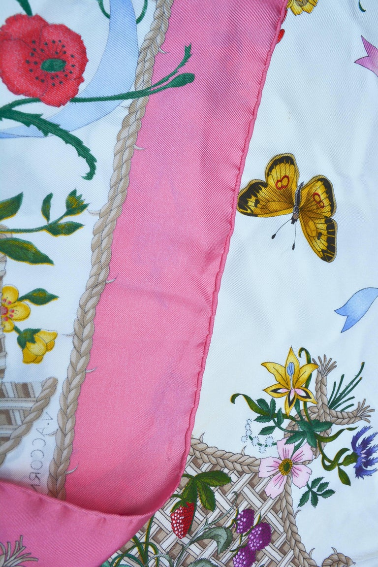 Gucci Pink Insect Scarf By Va Ccornero For Sale At 1stdibs