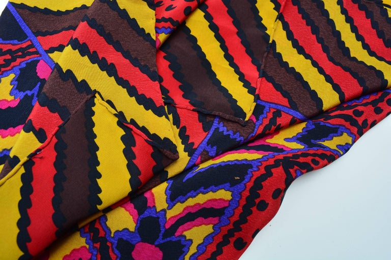 80s Givenchy Paisley Print Pop Scarf 3