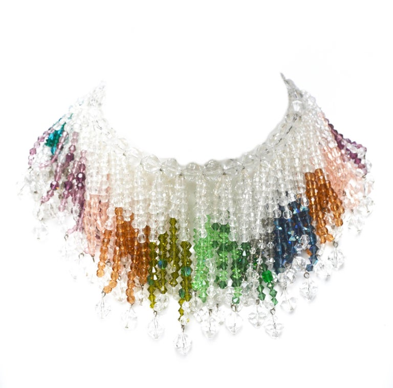 William De Lillo Rainbow Crystal Necklace 4