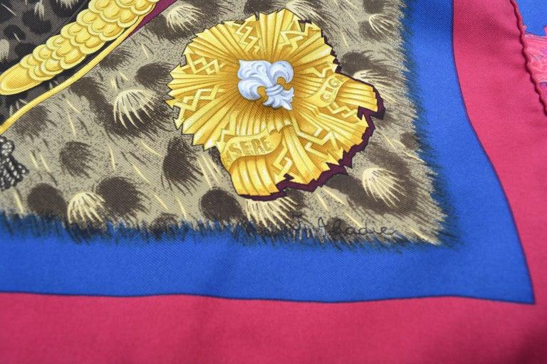 "Hermes ""Casques et Plumets"" Royal Guard Silk Scarf 4"