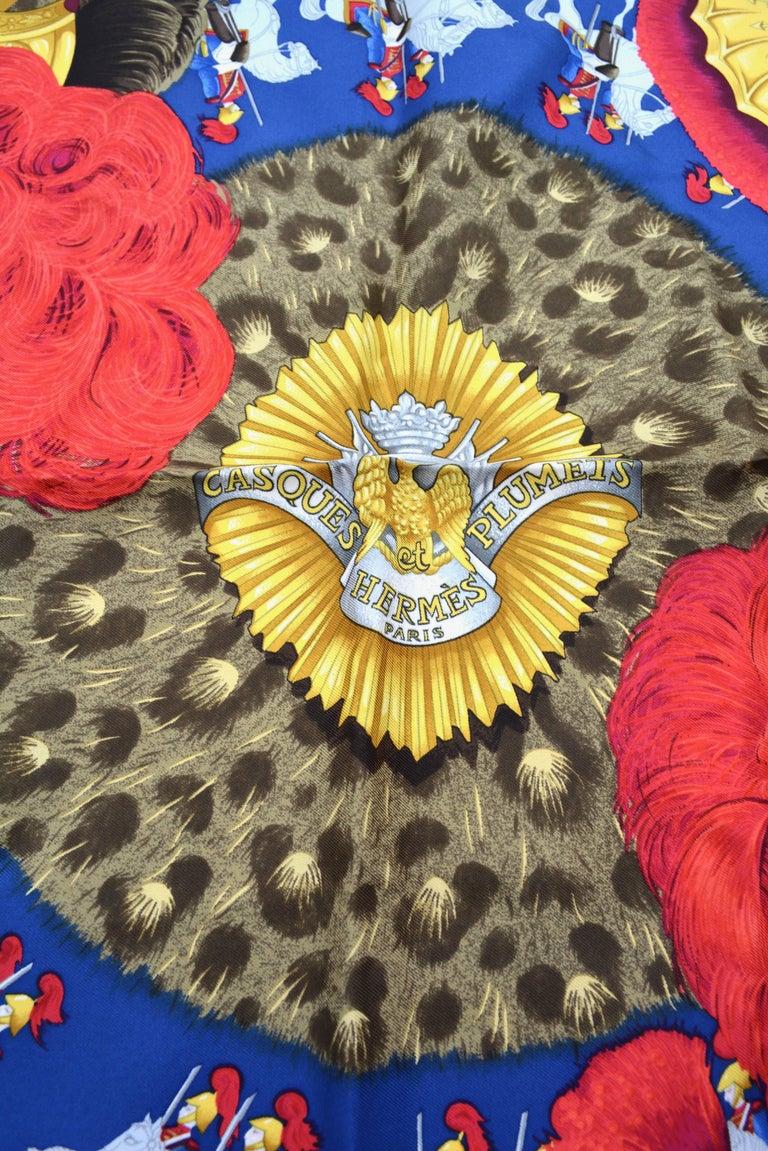 "Hermes ""Casques et Plumets"" Royal Guard Silk Scarf 3"