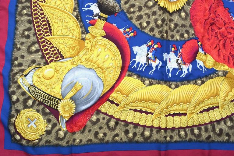 "Hermes ""Casques et Plumets"" Royal Guard Silk Scarf 5"