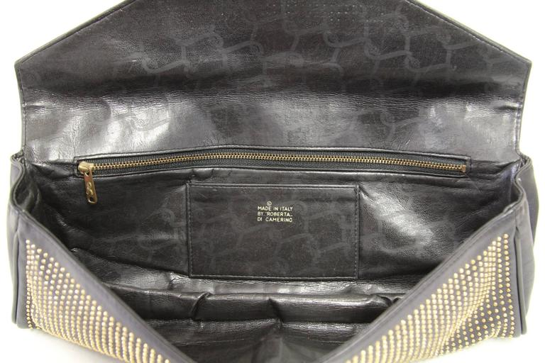 Women's 1980s Roberta di Camerino Studded Leather Clutch For Sale