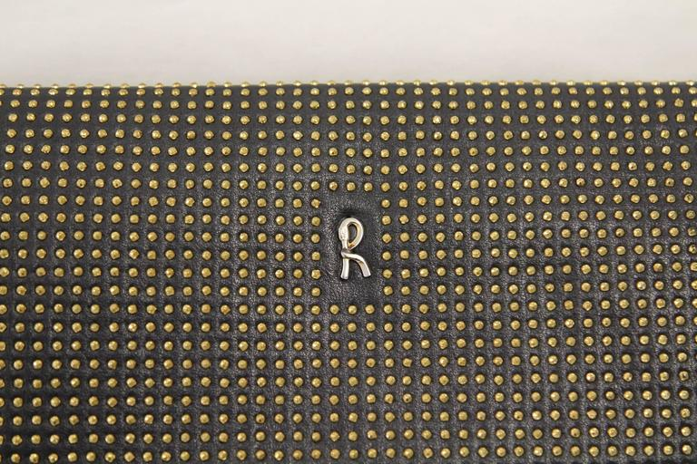 1980s Roberta di Camerino Studded Leather Clutch For Sale 2