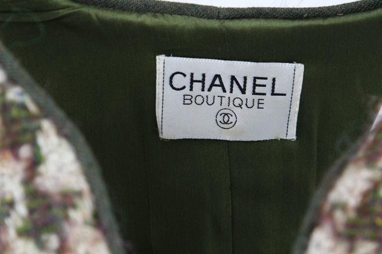 1990s Chanel Pied de Poule Overcoat In Excellent Condition For Sale In Lugo (RA), IT