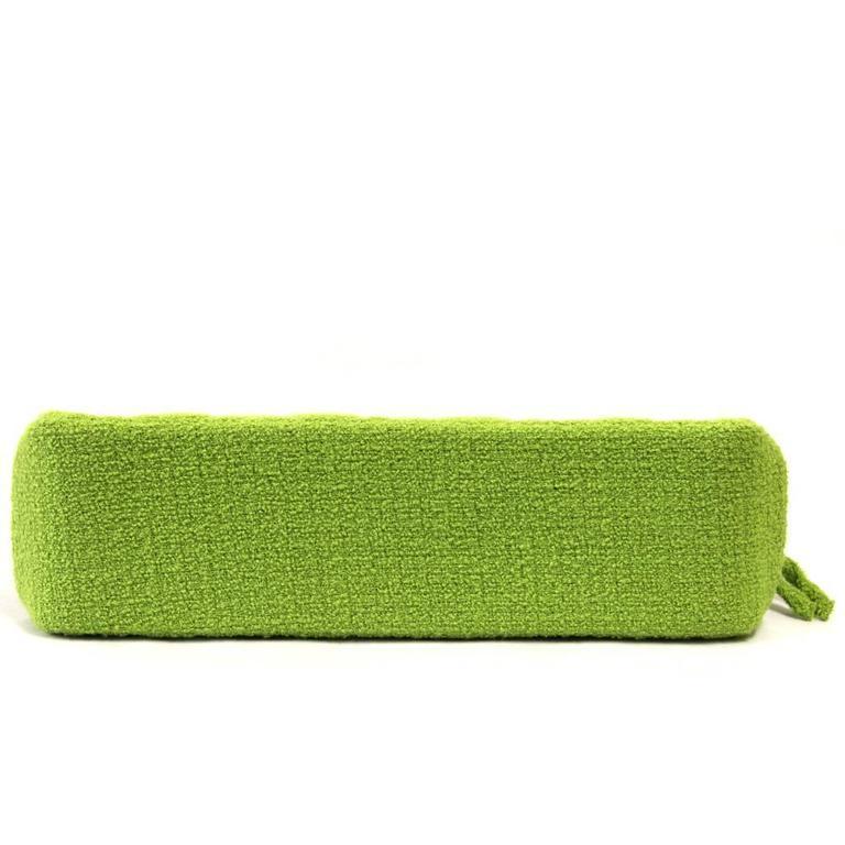 1990's Chanel Acid Green Wool Bouclé Shoulderbag 4