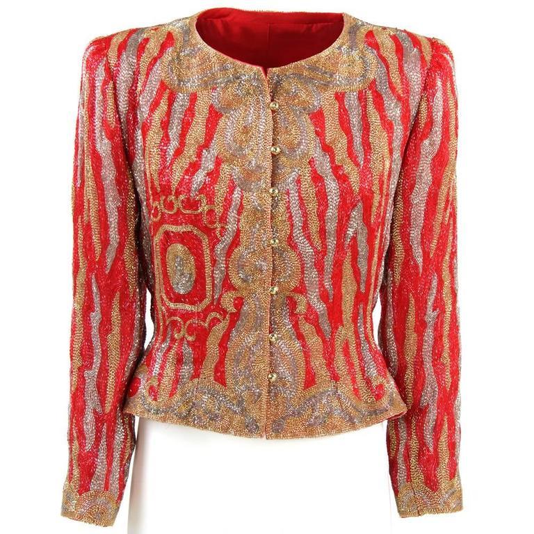 1980s Italian Sequined Jacket