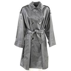 1980s Paco Rabanne Silver Raincoat