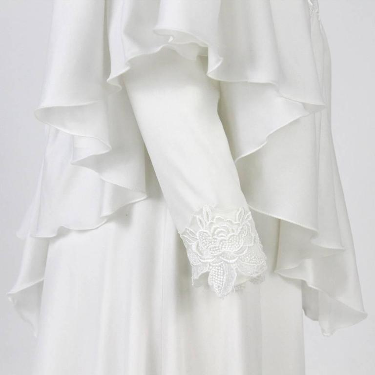 1970s made in italy white wedding dress for sale at 1stdibs for 1970s wedding dresses for sale