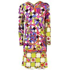 1960s Emilio Pucci Printed Silk Dress