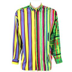 1980s Versace Striped Shirt