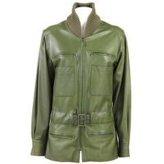 2001s Chanel Green Leather Jacket