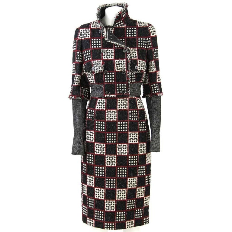2007 Chanel Geometric Wool Suit