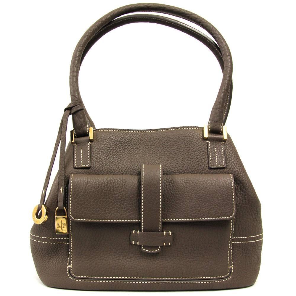 1stdibs 2000s Loro Piana Brown Leather Tote Bag 4PvtYe