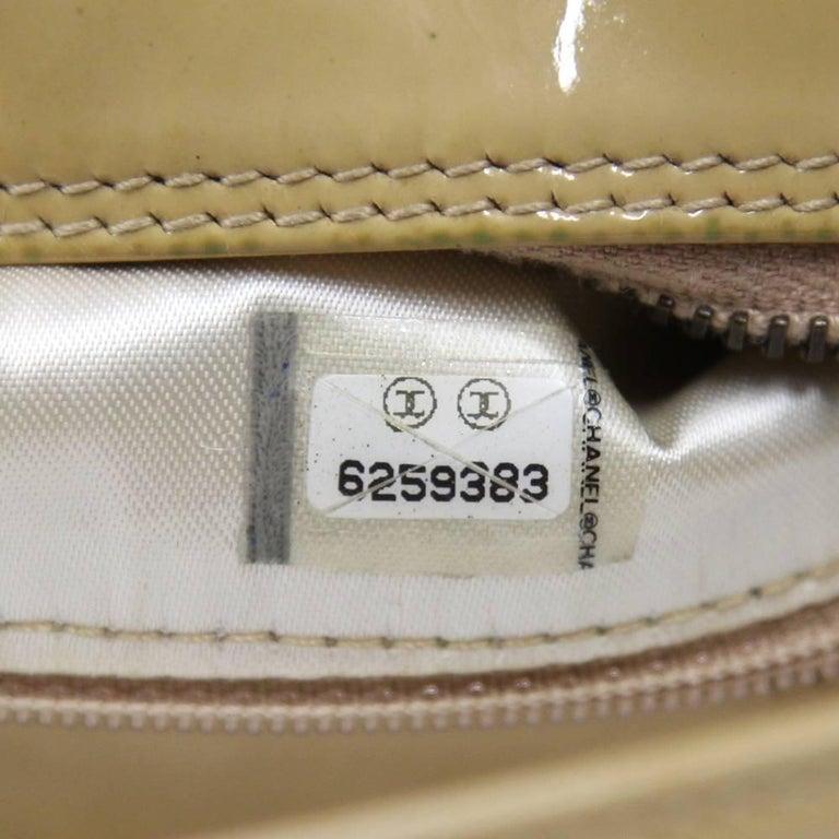 2000s Chanel Beige Leather Shoulder Bag For Sale 4