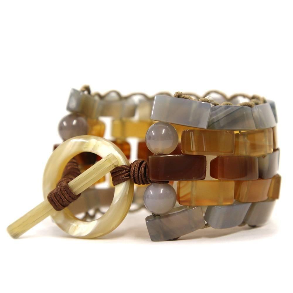 1stdibs 1990s Giorgio Armani Hard Stone Bracelet rWgKLhdO