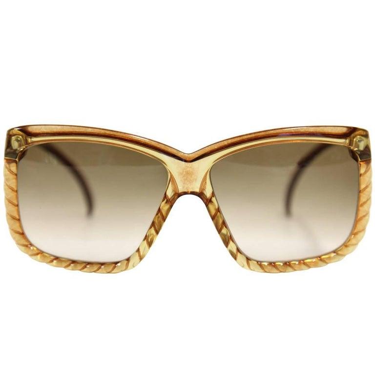 1970s Christian Dior Caramel Sunglasses