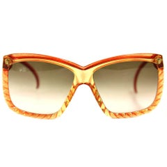 1970s Christian Red Intertwined Dior Sunglasses