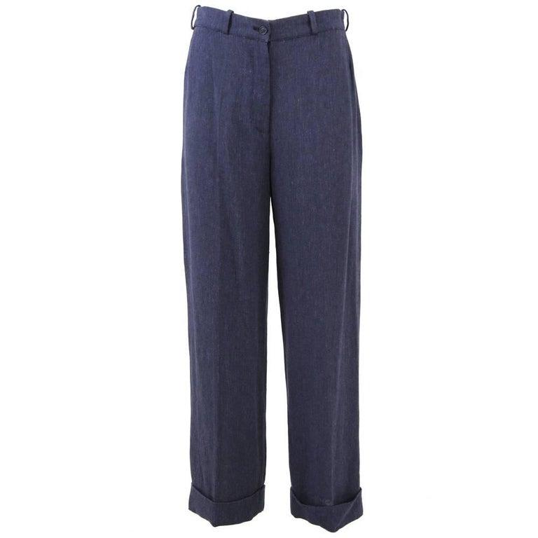 1990s Hermès Linen Pants