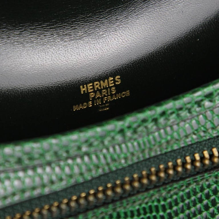 fb1735d06b9d 1990s Hermès Green Tejus Lizard Crossbody Bag at 1stdibs