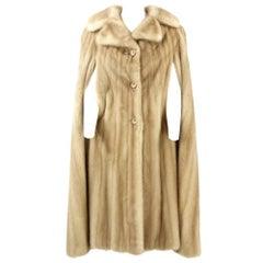 1960s Tailoring Mink Cape Coat