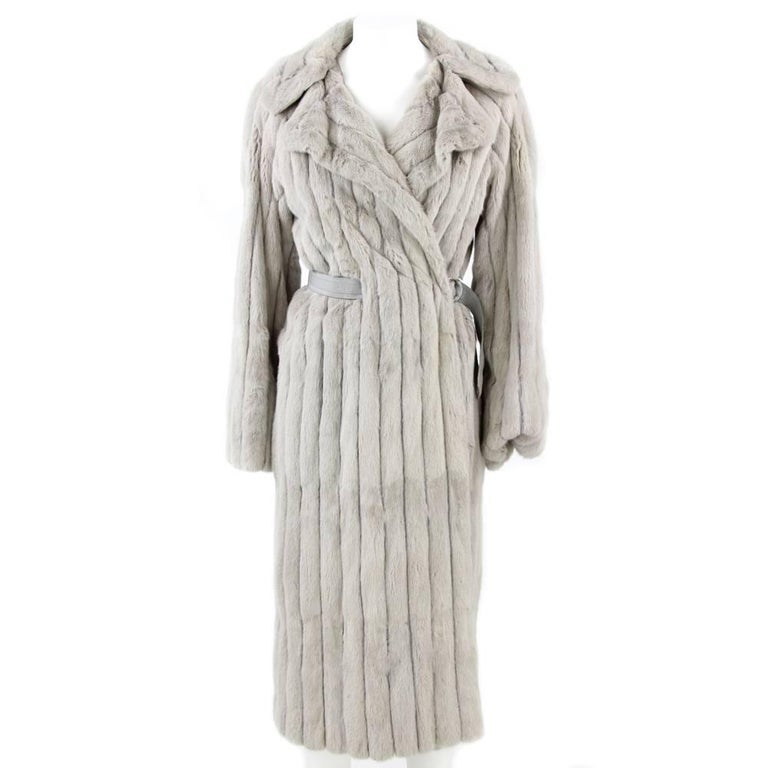1970's Fendi Grey Sable Fur Coat 1