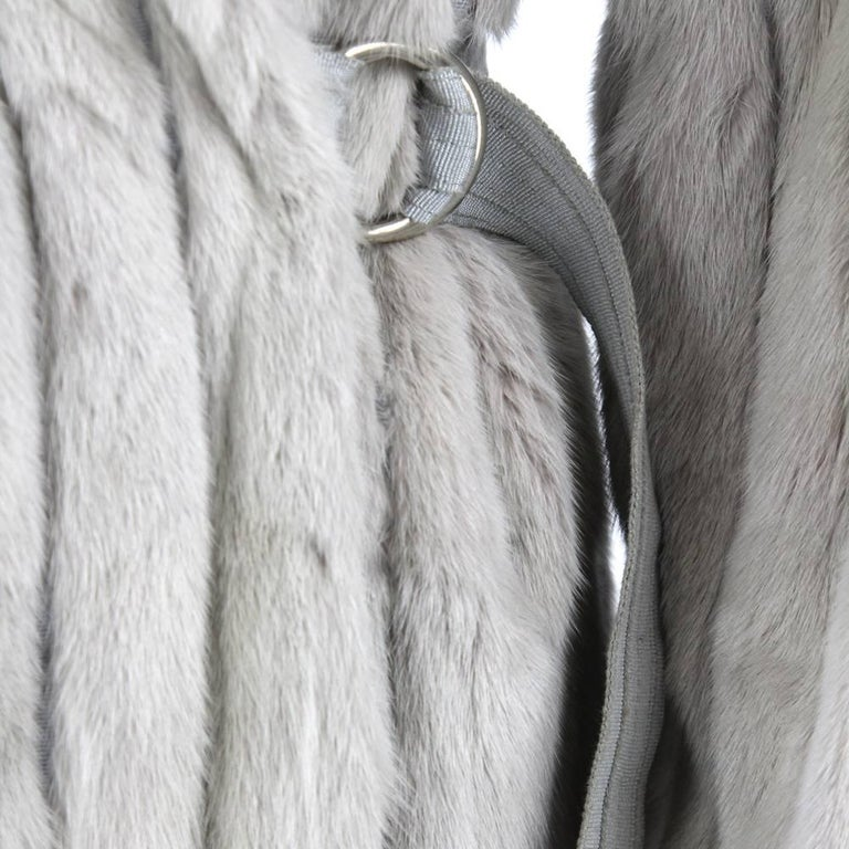 1970's Fendi Grey Sable Fur Coat 5