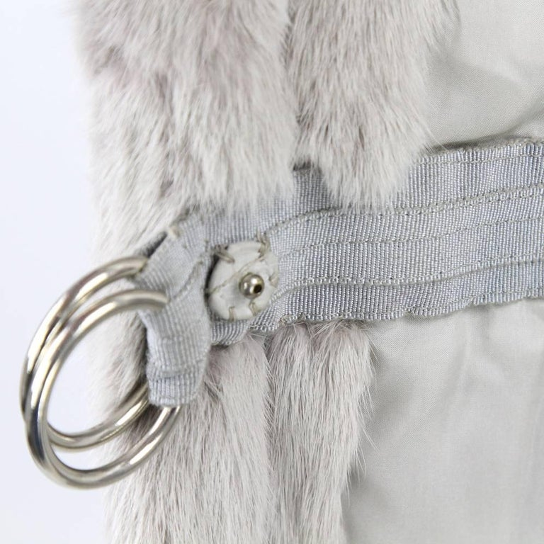 1970's Fendi Grey Sable Fur Coat 10