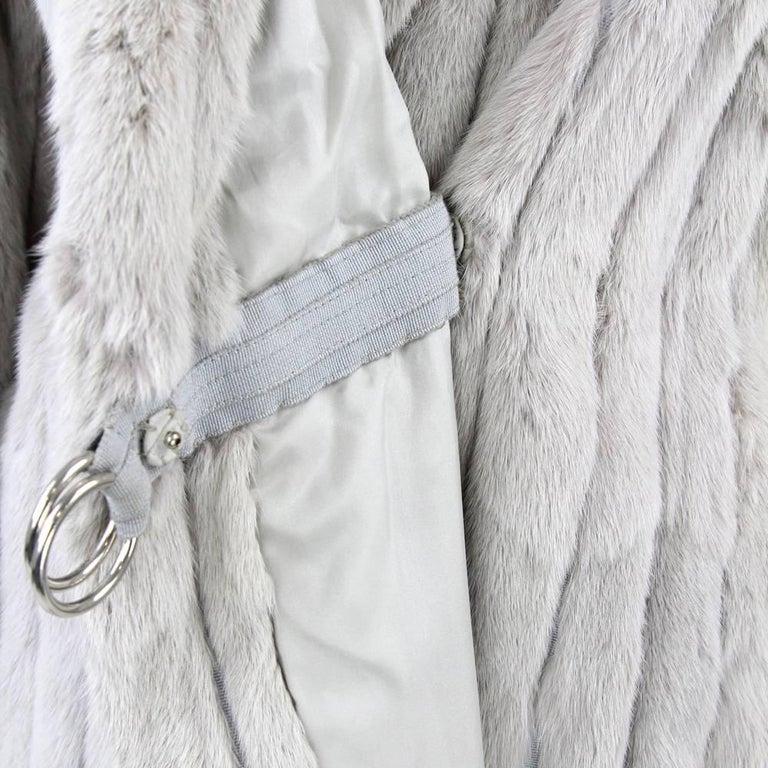 1970's Fendi Grey Sable Fur Coat 7